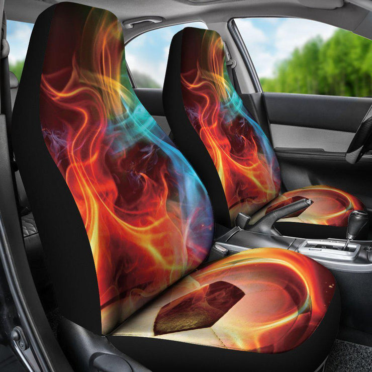 Soccer Ball Abstract Glow Design Seat Covers