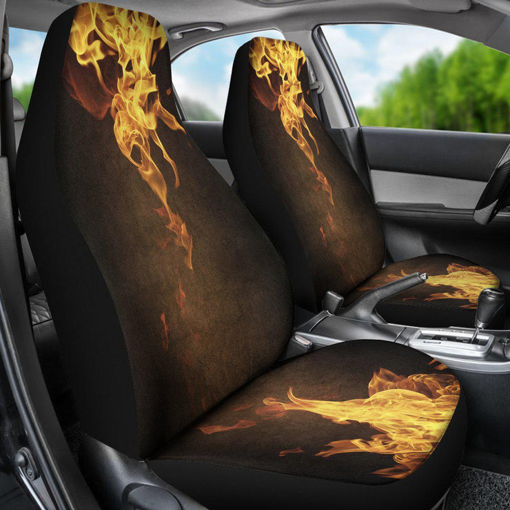 Orange Flames Design 1 Seat Covers