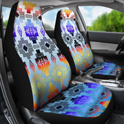Turquoise Horizon Car Seat Covers