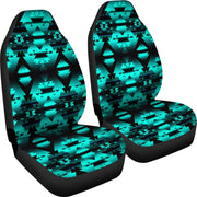 Dark Teal Winter Camp Car Seat Covers