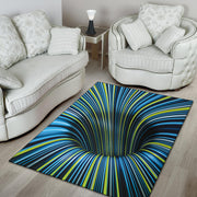 Tunnel Illusion Black Hole Area Rug