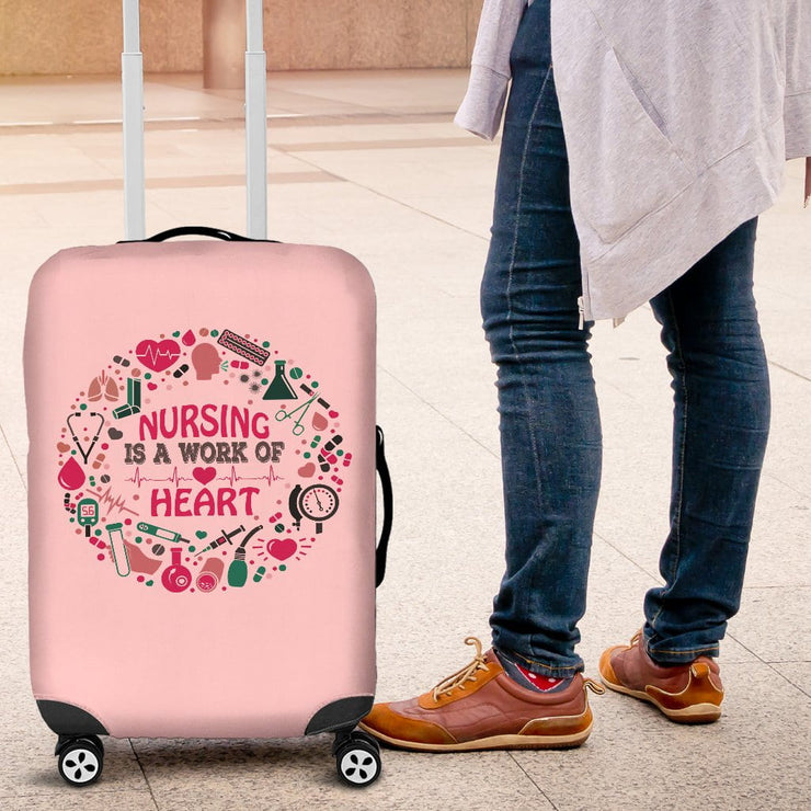 NURSING IS A WORK OF HEART LUGGAGE