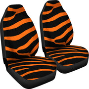 Zebra Orange Design Seat Covers