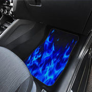 Blue Flames Floor Mats Full Set of 4