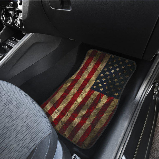 American Flag floor mats Front and Rear Car Set of 4