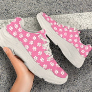 Paw Print Chunky Sneakers (White)