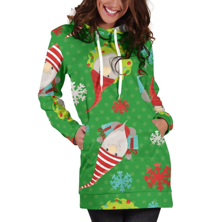 Gnome For Christmas Hoodie Dress