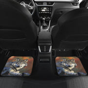 Wolf Car Mats Husky Front and Rear Car Floor Mats Set of 4