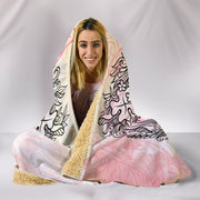 Peach Hippie Style Hooded Blanket