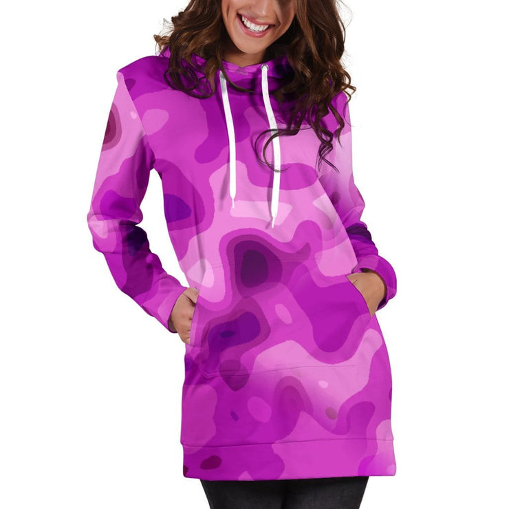 Pretty In Pink Camo Hoodie Dress for Camouflage Lovers
