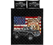 1976 Ford Pickup 4x4 Car Art Route 66 Quilt Set