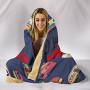 Beer & Caravan Hooded Blanket - Dark Blue