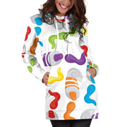 Squeezed Paint Hoodie Dress