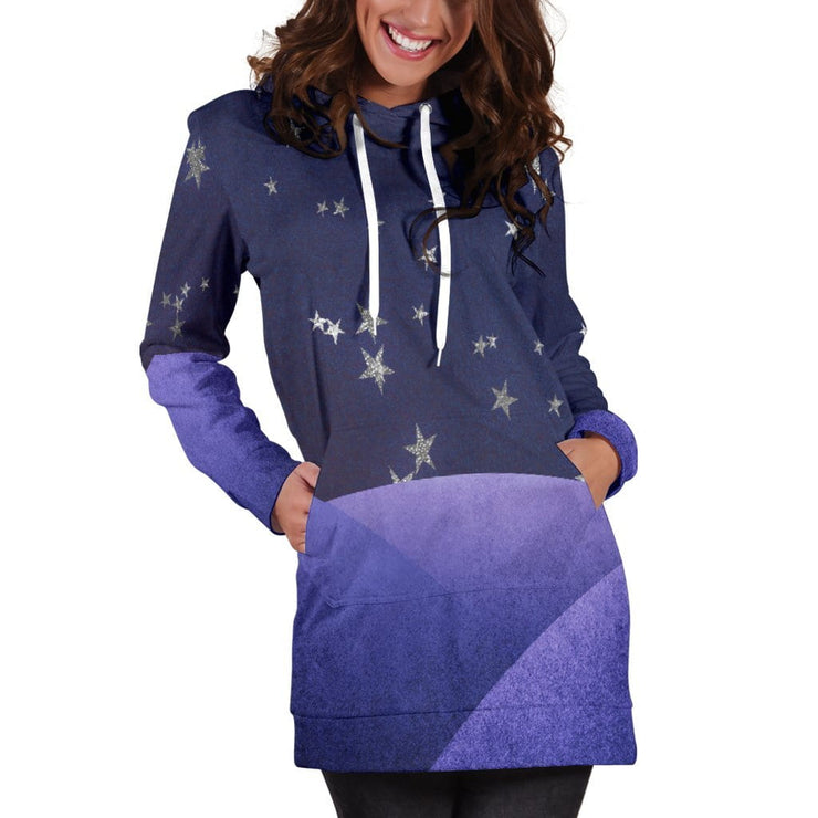 Fantasy Night Sky Hoodie Dress
