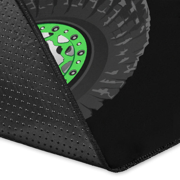 Rocktoy Jeep Green Area Rug
