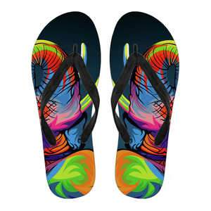 Colourful Elephant Flip Flops - Women's Flip Flops