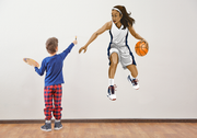 Girl Basketball Player Wall Art Decal - Let's Print Big