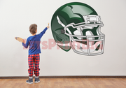 Green Football Helmet Wall Decal Removeable Repositionable - Let's Print Big