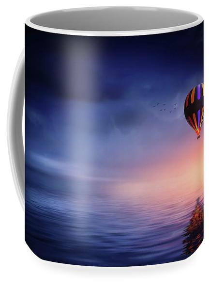 Hot Air Balloon Sunset - Coffee Mug