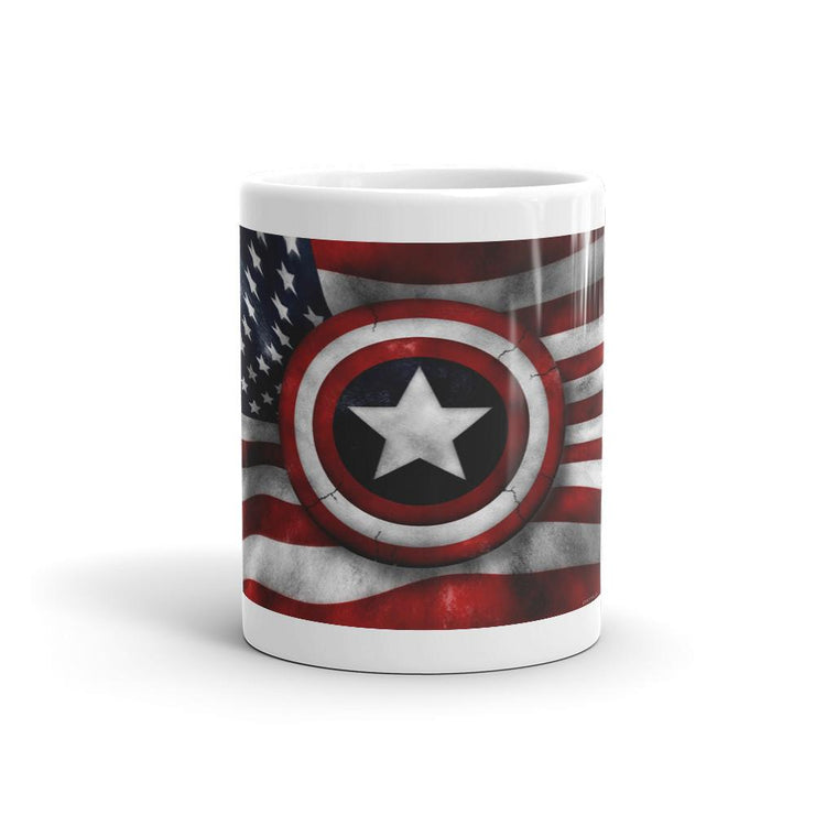American Flag Army Logo Shield/Captain America Mug coffee - Let's Print Big