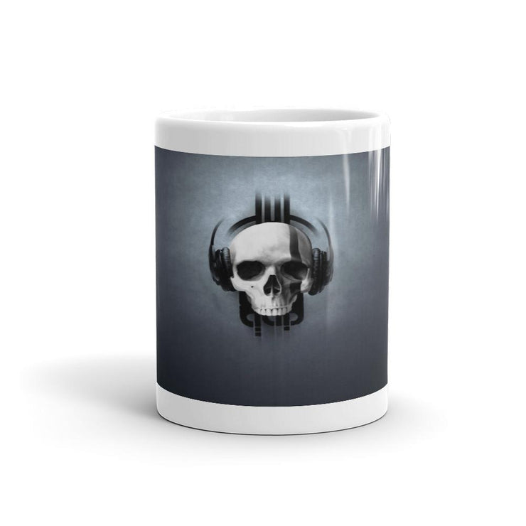 Skull Headphones Mug - Let's Print Big