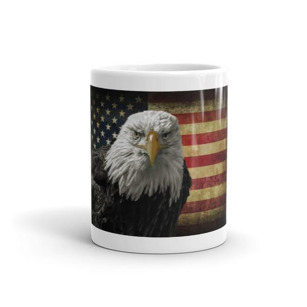 American Flag Eagle Ceramic Mug - Let's Print Big