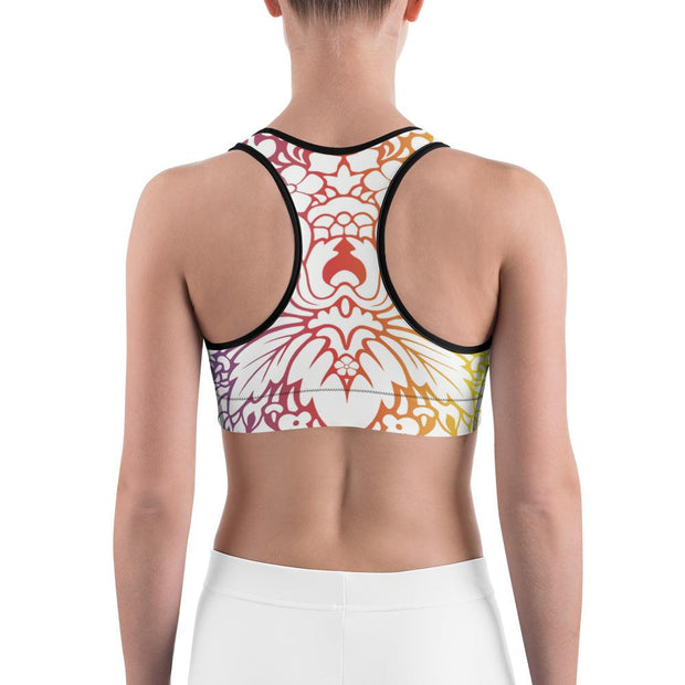Rainbow Pattern Sports bra