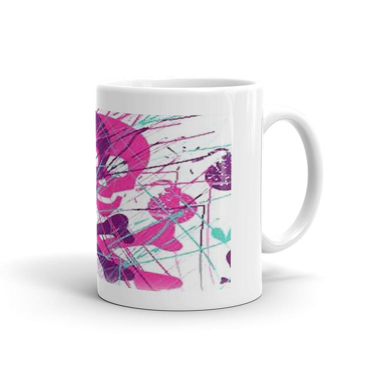 Pink n Purple Skull n Bones Mug - Let's Print Big