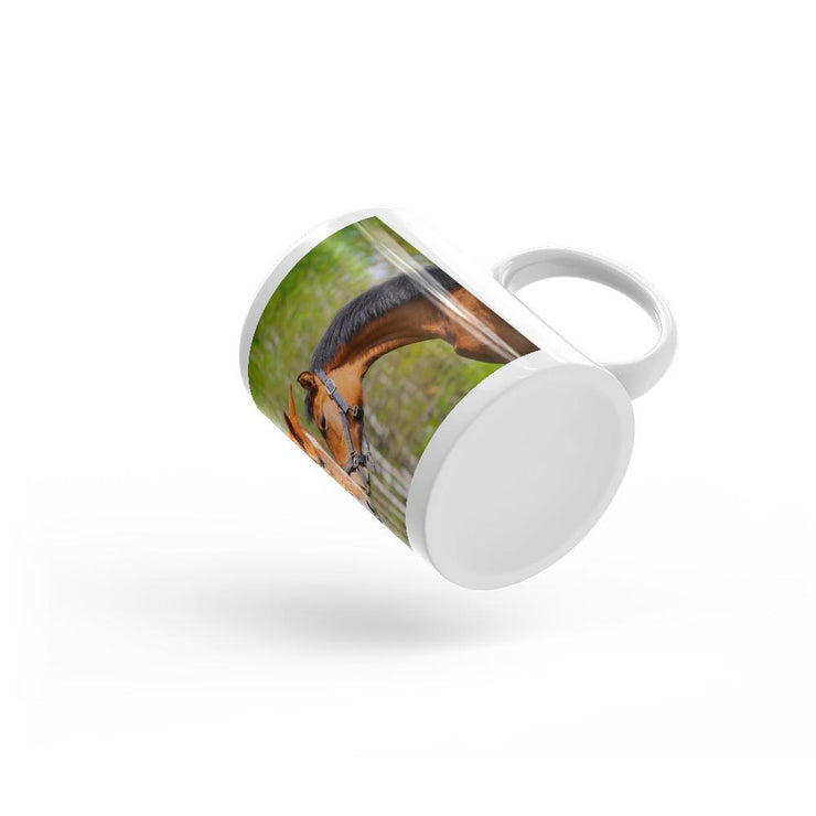 Kissing Horses Mug - Let's Print Big