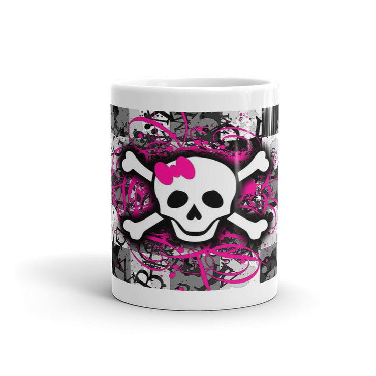 Skull n Bones Checkered Mug - Let's Print Big