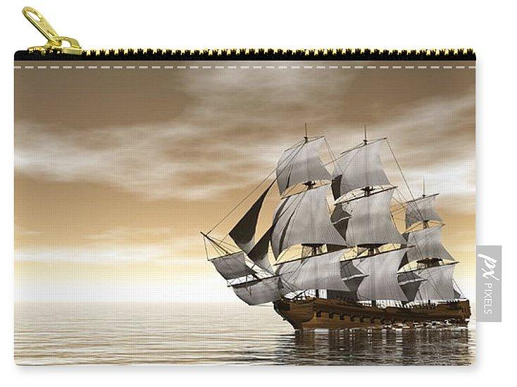 Old Merchant Ship - 3d Render - Carry-All Pouch