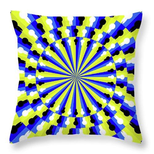 Optical Illusion Professor - Throw Pillow
