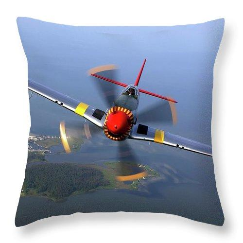 P-51 - Throw Pillow