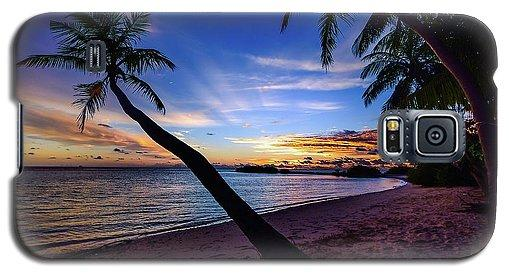 Palm Trees Beach Sunset - Phone Case