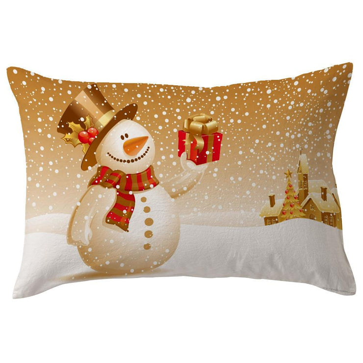Christmas Pillow Case Throw Cover Home vintage - Let's Print Big
