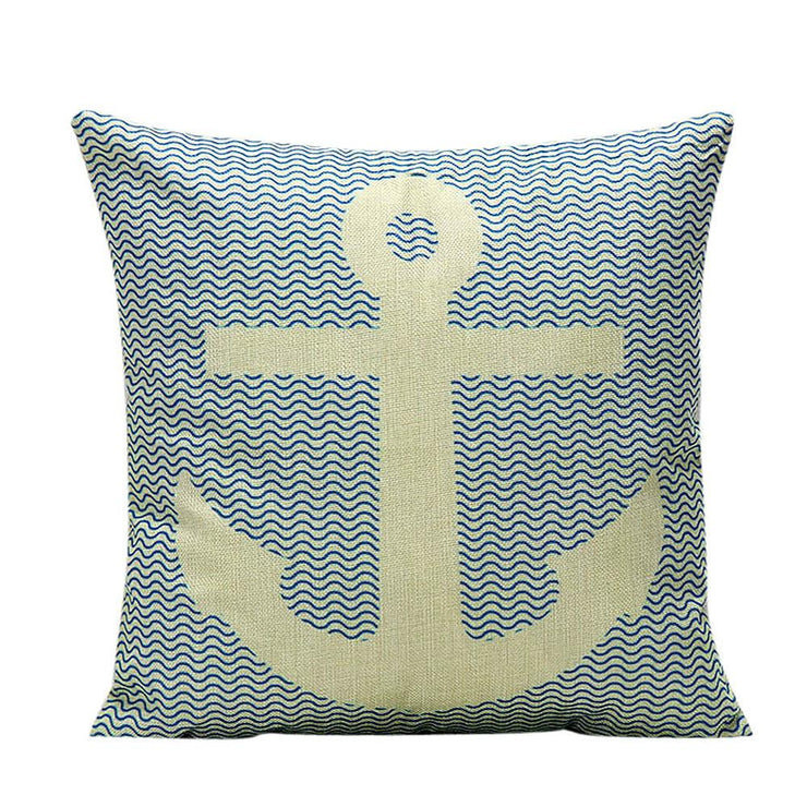 Pillow case vintage throw anchor decorative covers - Let's Print Big