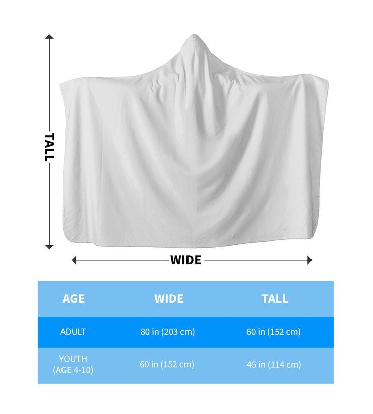 hooded blanket sizing