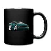 2008 Ford Mustang Car Art Full Color Mug - black