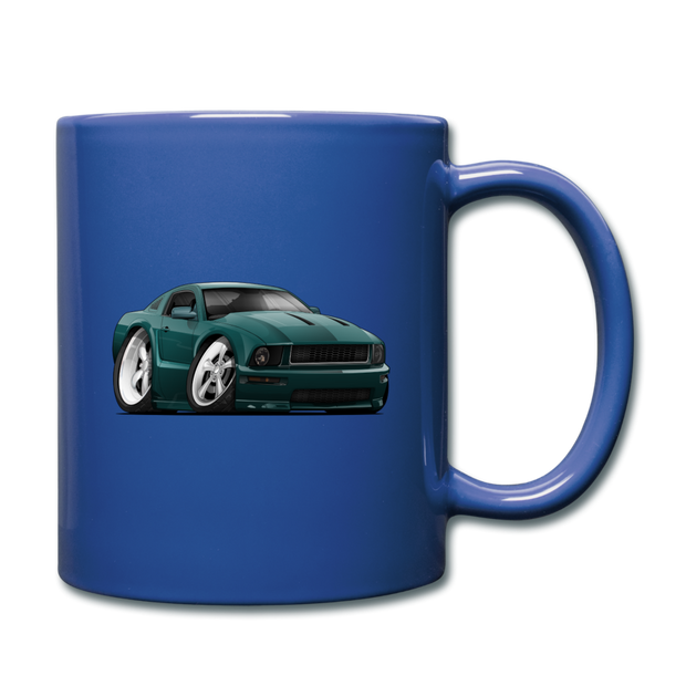2008 Ford Mustang Car Art Full Color Mug - royal blue