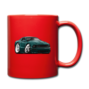 2008 Ford Mustang Car Art Full Color Mug - red