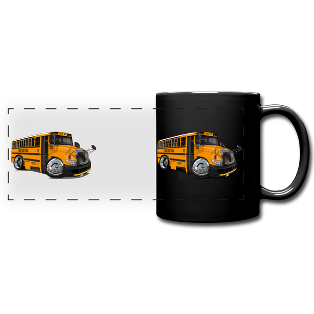 2017 International School Bus Car Art Full Color Panoramic Mug - black
