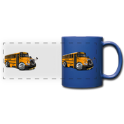 2017 International School Bus Car Art Full Color Panoramic Mug - royal blue