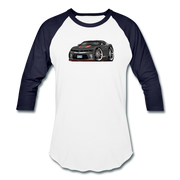 2017 Chevrolet Camaro RS 50th Anniversary Edition Car Art Baseball T-Shirt - white/navy
