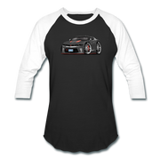 2017 Chevrolet Camaro RS 50th Anniversary Edition Car Art Baseball T-Shirt - black/white