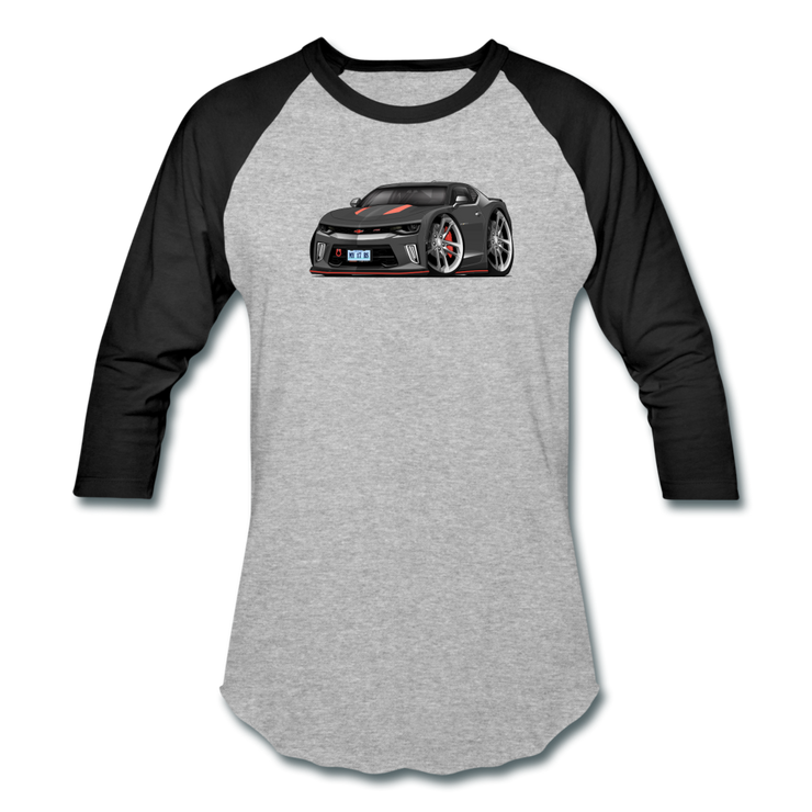 2017 Chevrolet Camaro RS 50th Anniversary Edition Car Art Baseball T-Shirt - heather gray/black