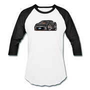 2017 Chevrolet Camaro RS 50th Anniversary Edition Car Art Baseball T-Shirt - white/black
