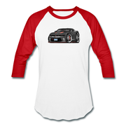 2017 Chevrolet Camaro RS 50th Anniversary Edition Car Art Baseball T-Shirt - white/red