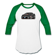 2017 Chevrolet Camaro RS 50th Anniversary Edition Car Art Baseball T-Shirt - white/kelly green