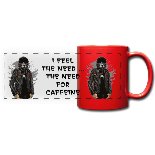 I Feel the Need Full Color Panoramic Mug - red