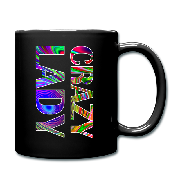 Crazy Lady Full Color Mug - black